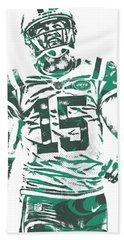Josh Mccown New York Jets Pixel Art 2 Beach Towel