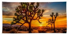 Joshua Tree Glow Beach Towel