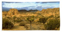 Joshua Tree National Park California - Landscape Beach Sheet by Art America Gallery Peter Potter