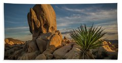 Joshua Tree Rock Formation Beach Towel