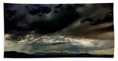 Beach Towel featuring the photograph Joshua Tree Storm by Chris Tarpening