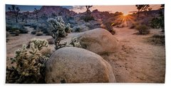 Joshua Tree Sunrise Beach Towel