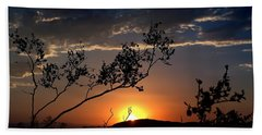 Beach Towel featuring the photograph Joshua Tree Sunset by Chris Tarpening
