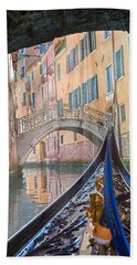 Journey Through Dreams - A Ride On The Canals Of Venice, Italy Beach Sheet