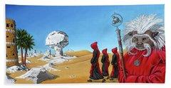 Journey To The White Desert Beach Towel