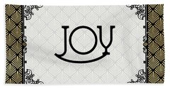 Joy - Art Deco Beach Towel