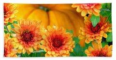 Joy Of Autumn Beach Sheet by Angela Davies