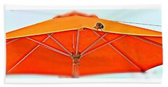 Beach Sheet featuring the digital art Joy On An Umbrella by Mindy Newman