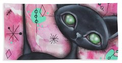 Joyce Cat Beach Towel by Abril Andrade Griffith