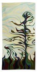 Joyful Pines, Whispering Lines Beach Sheet