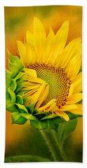 Joyful Sunflower Beach Towel