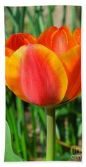 Joyful Tulip Beach Towel
