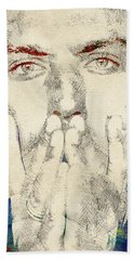 Jude Law Beach Towel by Mihaela Pater