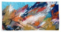 Judean Hill Abstract Beach Towel