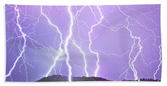 Judgement Day Lightning Beach Towel