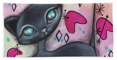 Judy Cat Beach Towel by Abril Andrade Griffith