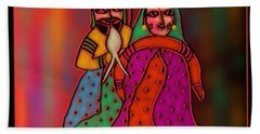 Beach Towel featuring the digital art Jugalbandi by Latha Gokuldas Panicker