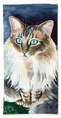 Juju - Cashmere Bengal Cat Painting Beach Towel