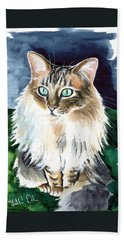Juju - Cashmere Bengal Cat Painting Beach Towel