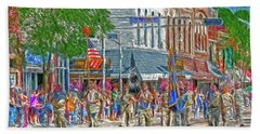 Beach Sheet featuring the photograph July 4th Color Guard by Trey Foerster