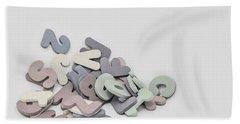 Jumbled Letters Beach Towel