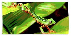 Jumping Frog Beach Towel