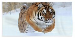 Jumping Tiger Beach Towel