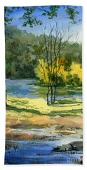 Junction Of White And Spring Rivers Beach Towel