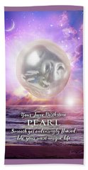 June Birthstone Pearl Beach Sheet by Evie Cook