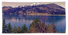 June Lake Panorama Beach Towel