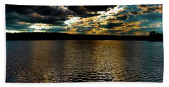 Beach Towel featuring the photograph June Sunset On Nicks Lake by David Patterson