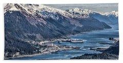 Juneau From Above Beach Towel
