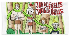 Jungle Bells Beach Towel