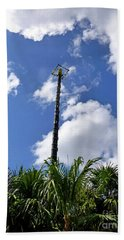 Beach Towel featuring the photograph Jungle Bungee Tower by Francesca Mackenney