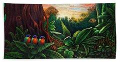 Jungle Harmony 3 Beach Towel
