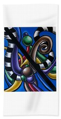 Jungle Stripes 2, Colorful Chromatic Abstract Artwork Beach Towel