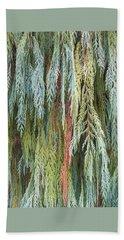 Juniper Leaves - Shades Of Green Beach Towel