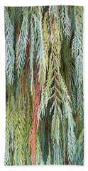 Beach Towel featuring the photograph Juniper Leaves - Shades Of Green by Ben and Raisa Gertsberg
