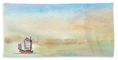 Junk Sailing Beach Sheet by R Kyllo