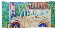 Junk Truck Beach Towel