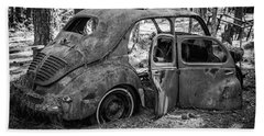 Junked Cars Beach Towel