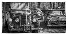 Junked Mack Truck Ad Old Plymouth Beach Sheet