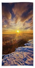 Beach Sheet featuring the photograph Just A Bit More To Go by Phil Koch