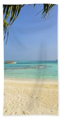 Just A Boat Ride Away Beach Towel