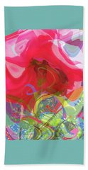 Just A Wild And Crazy Rose - Floral Abstract Beach Towel