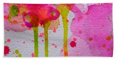 Beach Towel featuring the painting Just As I Am by Tracy Bonin