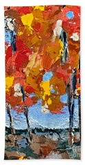 Just Beyond The Trees Beach Towel