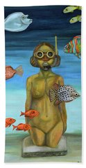 Beach Towel featuring the painting Just Breathe by Leah Saulnier The Painting Maniac