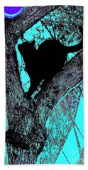 Fauve Cat And Moon Beach Towel