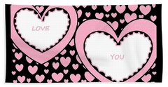 Just Hearts 2 Beach Towel
